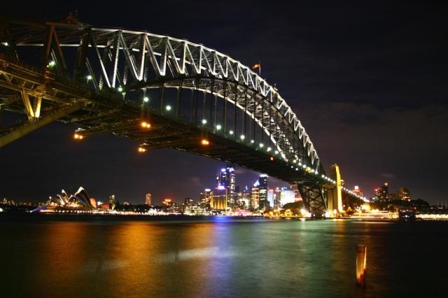 Sydney Harbour Bridge at Night, NSW, Australia