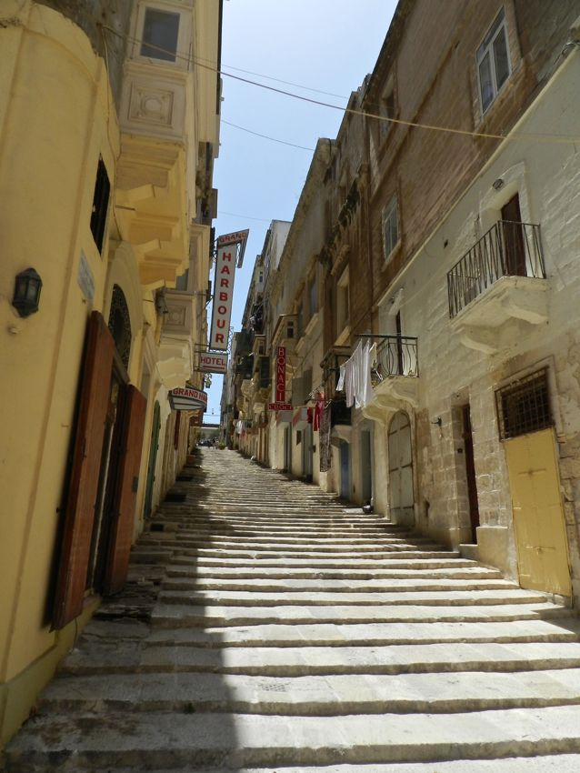 Valletta, Malta, Europe, Travel, Steps