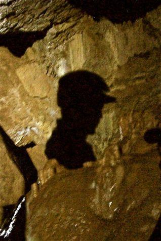 Caver inside cave, Victoria