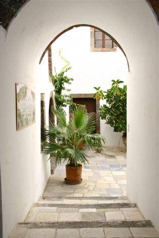 Private Courtyard, Santorini, Greek Island