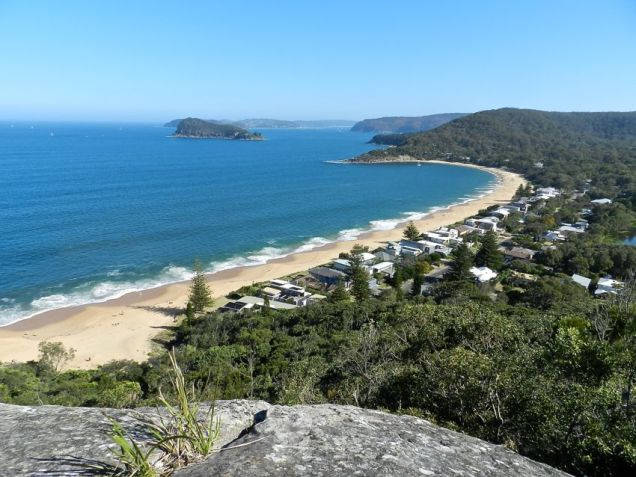 Patonga Beach with Lion Island in the distance