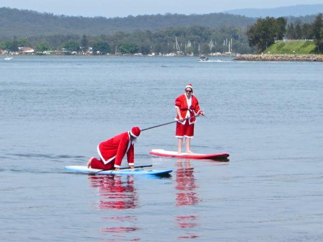 Santas on Lake Macquarie