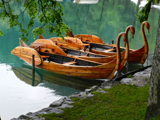 Pletna Boats in Lake Bled
