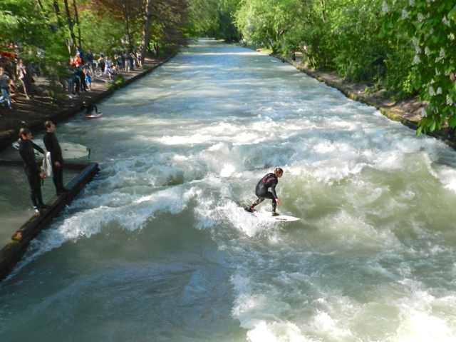 Surfing at the Eisbach