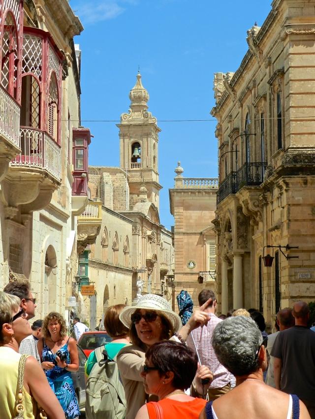 Crowded Valletta, Malta, Europe
