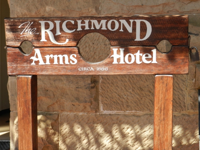 1866 Pillory at The Richmond Arms Hotel, Tasmania