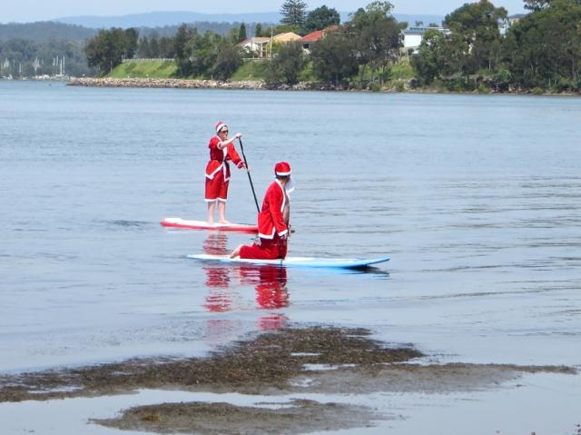 Santa in the southern hemisphere