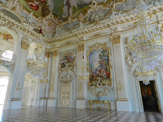 Interior view of the palace