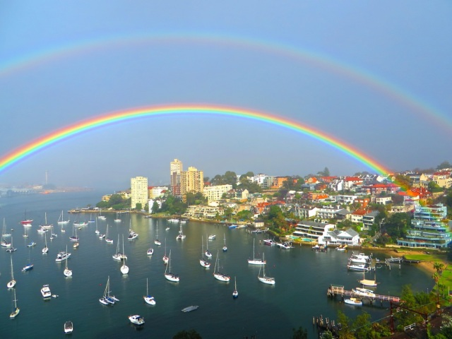 Lavender Bay, Sydney, Double Rainbow