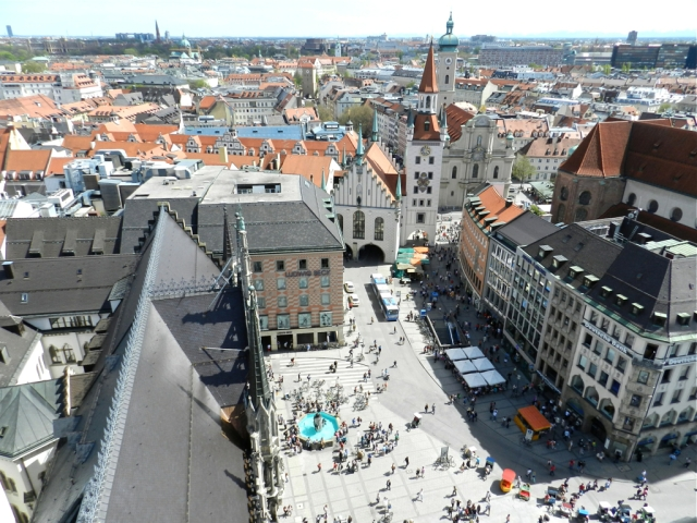 Views from the Town Hall Tower, Munich, Germany