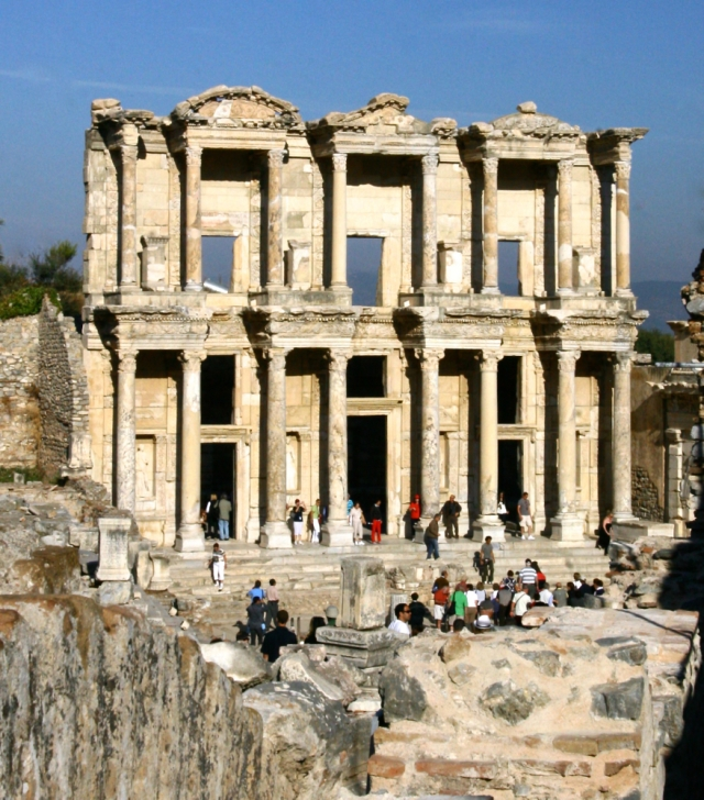 Façade of the Library of Ephesus