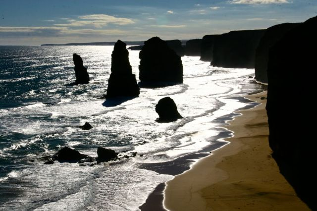 The Twelve Apostles looking straight at the sun - unaltered interesting results :)