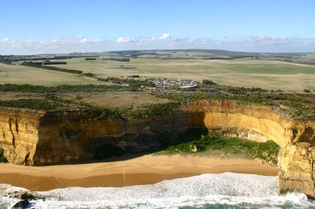 Aerial view of The Great Ocean Road Visitors Information Centre