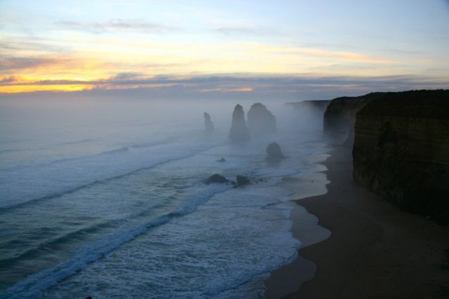 Misty Dusk over The Twelve Apostles
