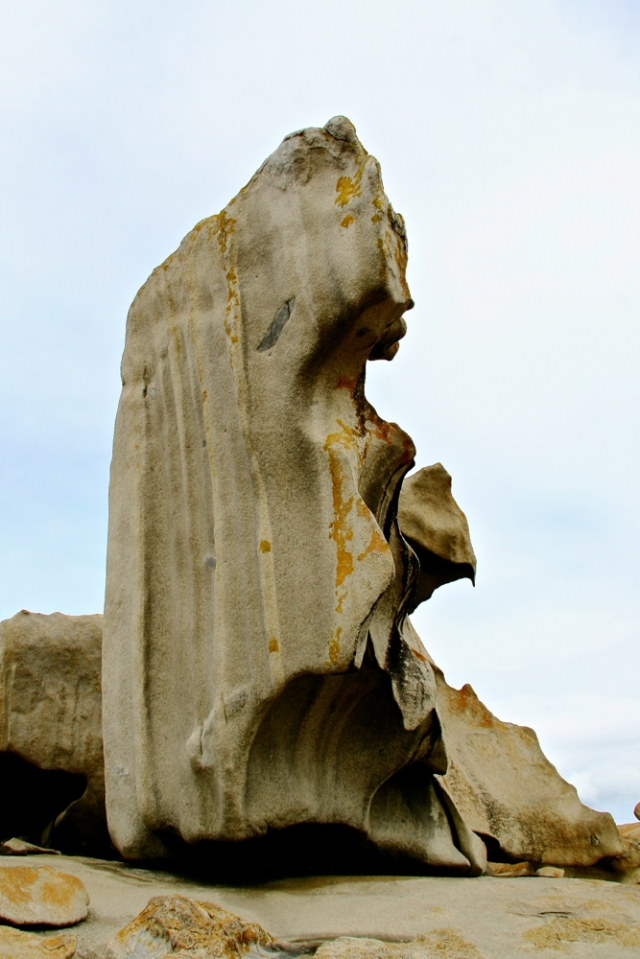 Remarkable Rocks - looks like a lady's profile to me