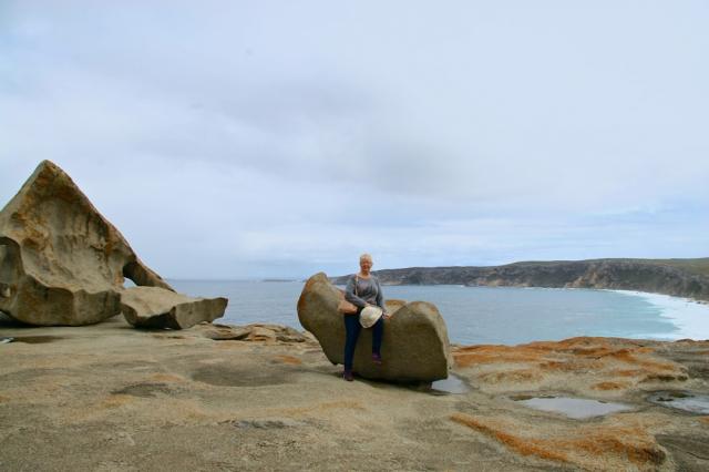 Selfie at Remarkable Rocks